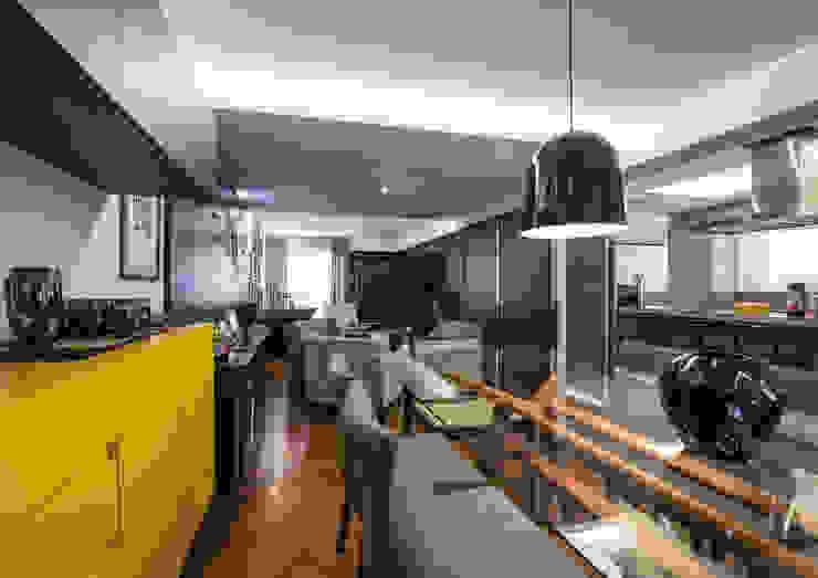 Sala de Jantar Studio Leonardo Muller Salas de jantar modernas Amarelo