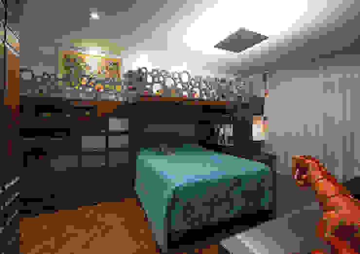 Quarto do filho Studio Leonardo Muller Quarto infantil moderno Madeira Azul