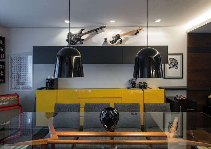 Sala de Jantar Studio Leonardo Muller Salas de jantar modernas MDF Amarelo
