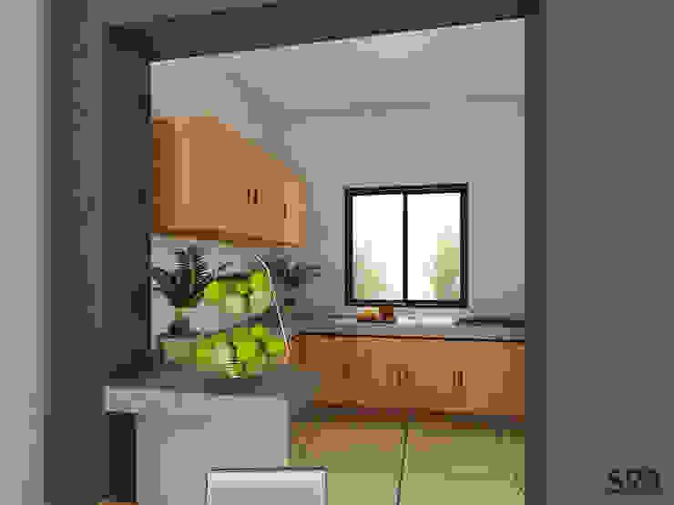 Casa Ana: Cocinas de estilo  por SRA arquitectos