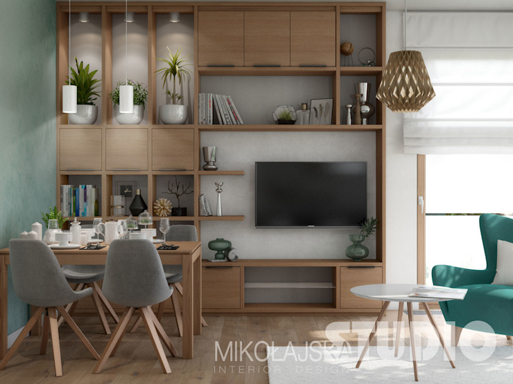 Living room by MIKOŁAJSKAstudio ,
