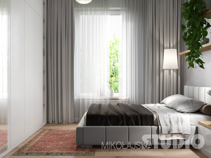 MIKOŁAJSKAstudio Scandinavian style bedroom