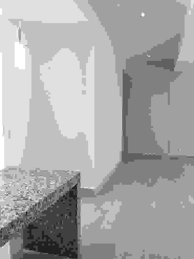 Departamento Pasillos, vestíbulos y escaleras modernos de Alejandra Zavala P. Moderno