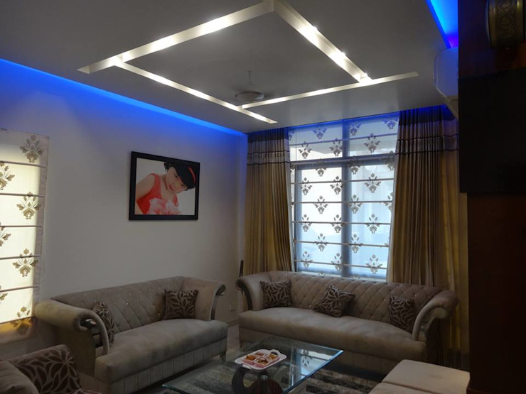 Villa Interiors at Ghaziabad Modern living room by Ar. Sandeep Jain Modern