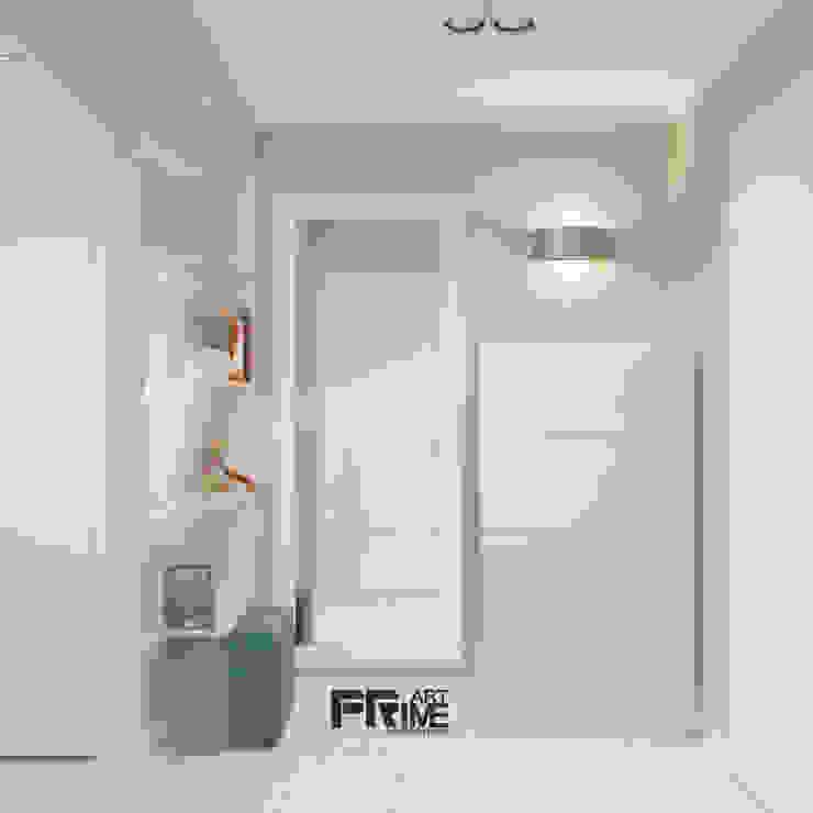 Квартира-студия в современном стиле. Бюджетный вариант! Коридор, прихожая и лестница в стиле минимализм от 'PRimeART' Минимализм