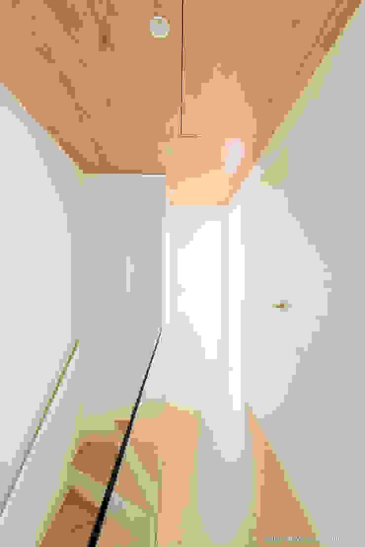 Refurbishment for Cristina & Juan Carlos Modern corridor, hallway & stairs by Pablo Muñoz Payá Arquitectos Modern