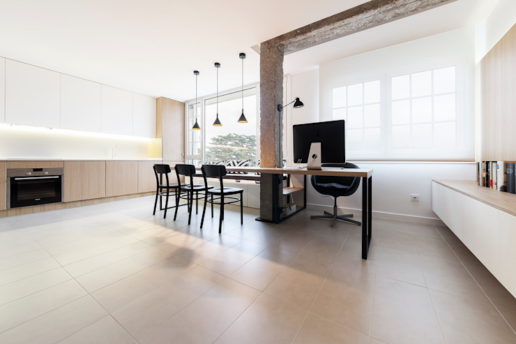 Erbalunga estudio Minimalist living room Engineered Wood Wood effect