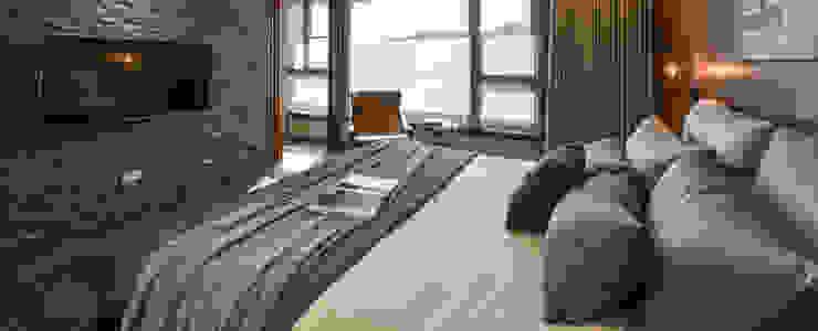 Asian style bedroom by CJ INTERIOR 長景國際設計 Asian