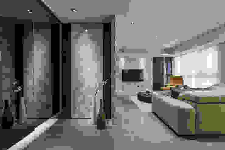CJ INTERIOR 長景國際設計 Asian style corridor, hallway & stairs