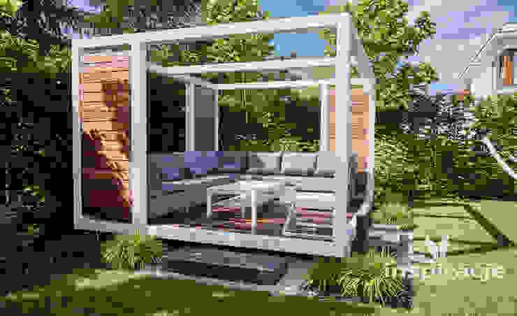 Balcone, Veranda & Terrazza in stile moderno di Studio architektury krajobrazu INSPIRACJE Moderno