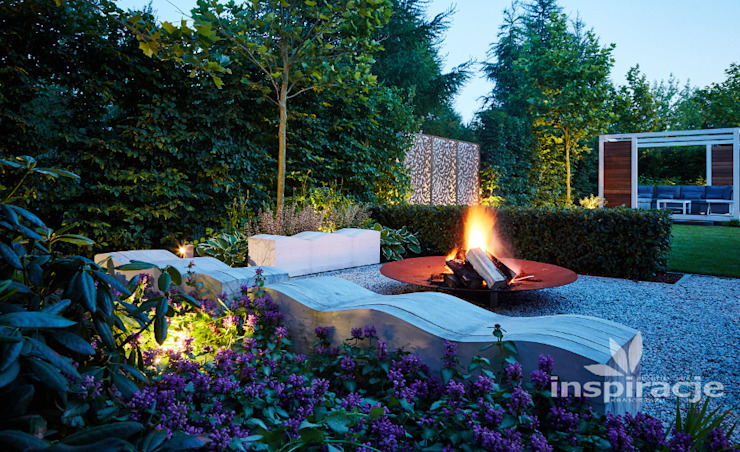 Jardines de estilo  de Studio architektury krajobrazu INSPIRACJE