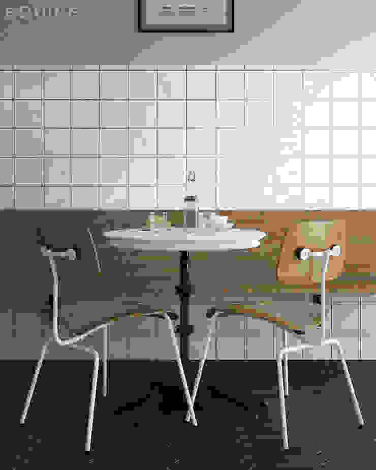 Evolution Blanco 15 x 15 cm Cocinas de estilo moderno de Equipe Ceramicas Moderno