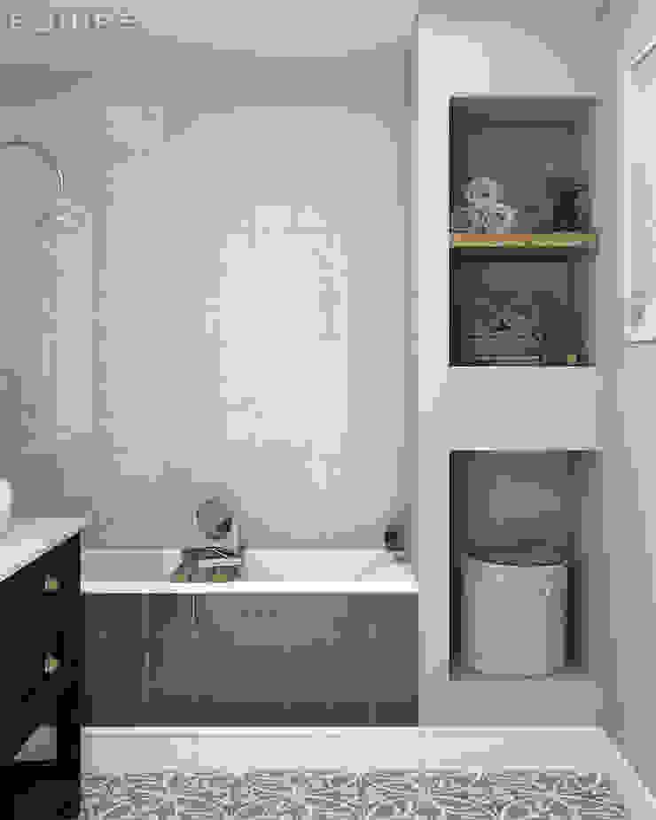 Evolution Gris Claro, Gris Oscuro 15x15 Baños de estilo moderno de Equipe Ceramicas Moderno