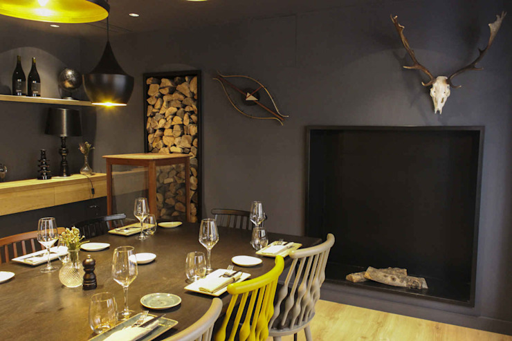 Rustic style dining room by homify Rustic