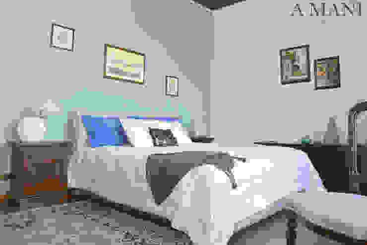 Śródziemnomorska sypialnia od A4MANI - Interior & Architecture Śródziemnomorski