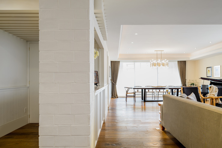 JVS Paredes y pisos de estilo escandinavo de NIVEL TRES ARQUITECTURA Escandinavo