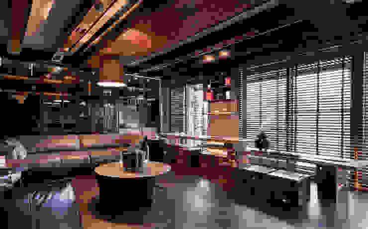 Asian style living room by DYD INTERIOR大漾帝國際室內裝修有限公司 Asian