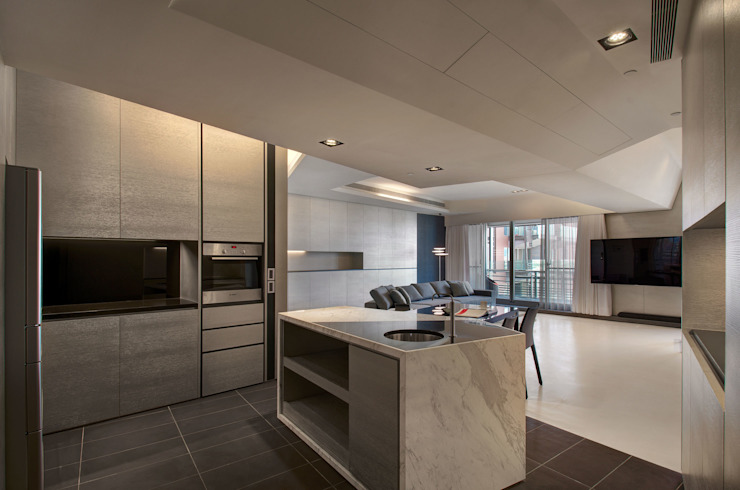 The New Quintessential Modern kitchen by Taipei Base Design Center Modern