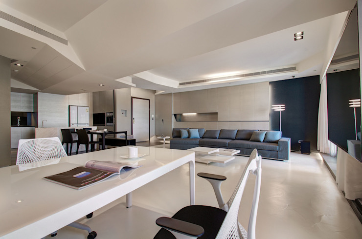 The New Quintessential Modern living room by Taipei Base Design Center Modern