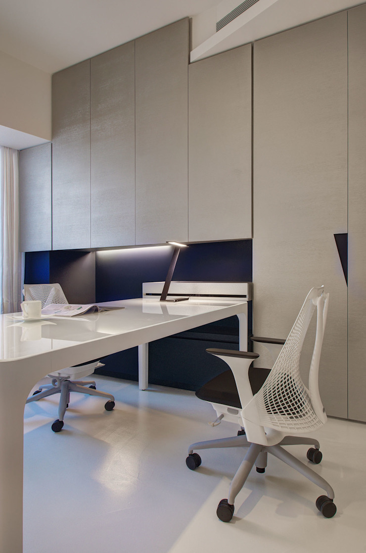 The New Quintessential Modern study/office by Taipei Base Design Center Modern