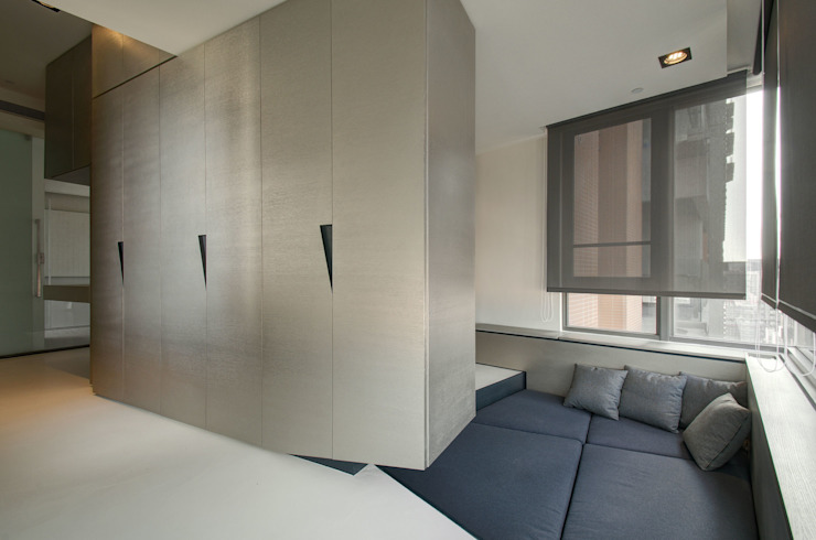 The New Quintessential Modern media room by Taipei Base Design Center Modern