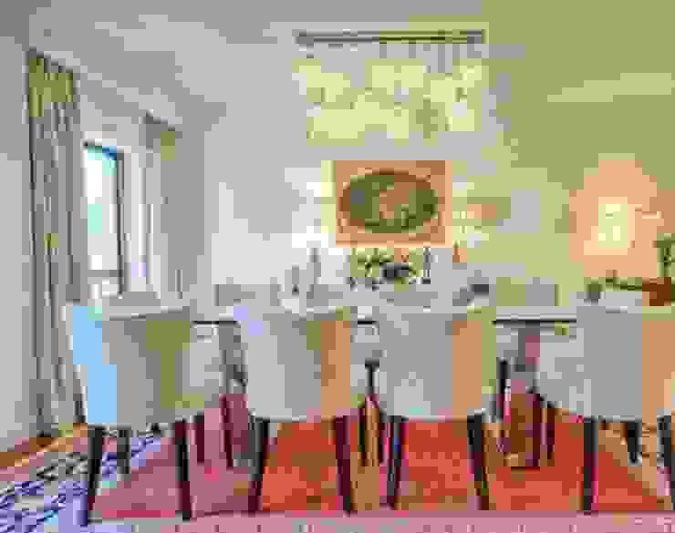 Sala de jantar por 8&80 Clássico Têxtil Ambar/dourado