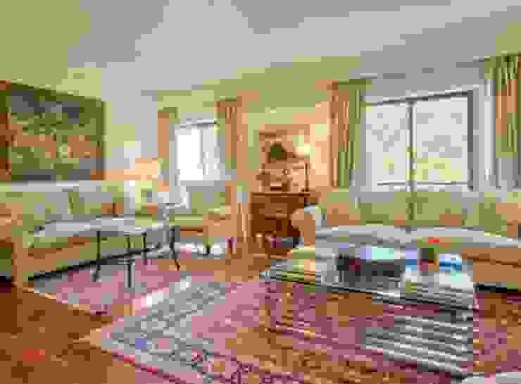 Sala de estar por 8&80 Clássico Têxtil Ambar/dourado