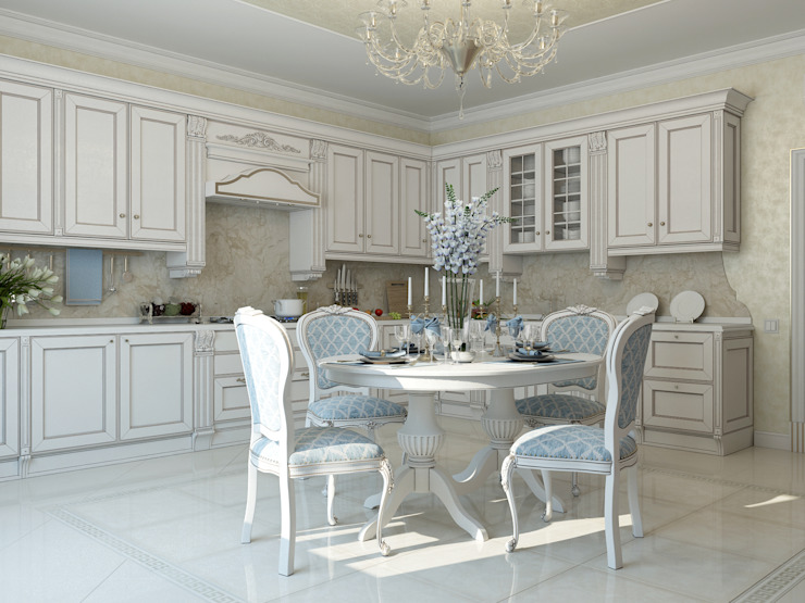 Classic style kitchen by Студия дизайна Дарьи Одарюк Classic