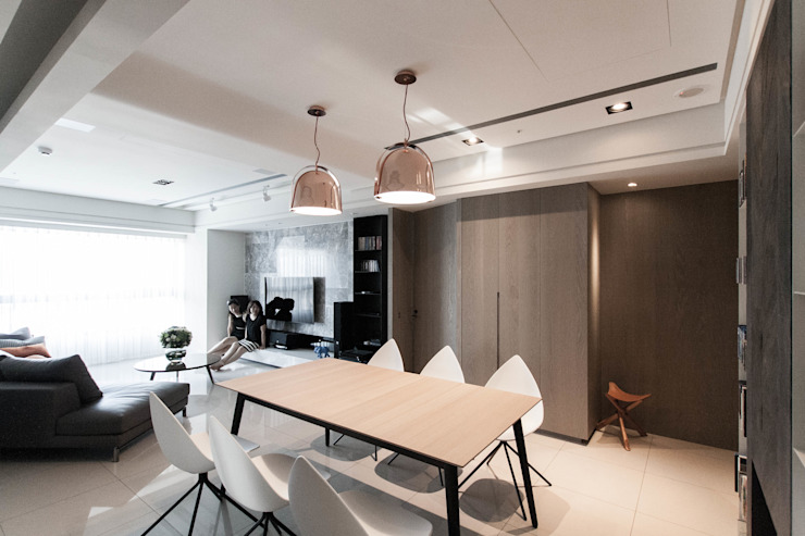 BRAVO INTERIOR DESIGN & DECO    NORDIC STYLE:  客廳 by 璞碩室內裝修設計工程有限公司