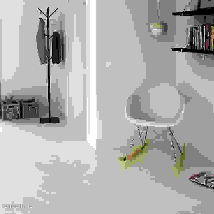 现代客厅設計點子、靈感 & 圖片 根據 Equipe Ceramicas 現代風