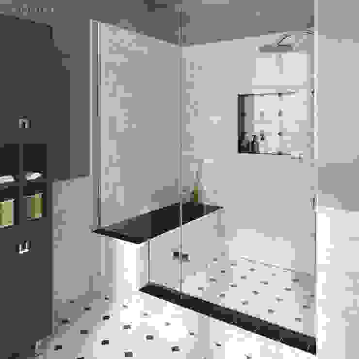 Phòng tắm phong cách kinh điển bởi Equipe Ceramicas Kinh điển gốm sứ
