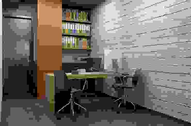 Oficina y Mini Departamentos Estudios y despachos modernos de Arq. Rodrigo Culebro Sánchez Moderno