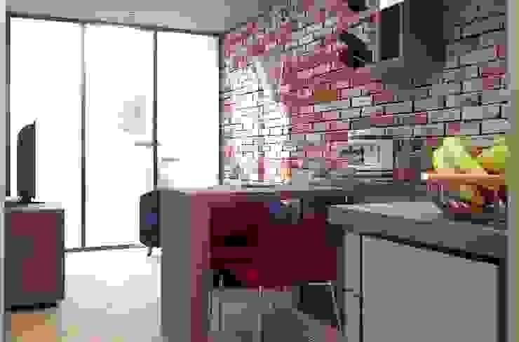 Oficina y Mini Departamentos Salones modernos de Arq. Rodrigo Culebro Sánchez Moderno