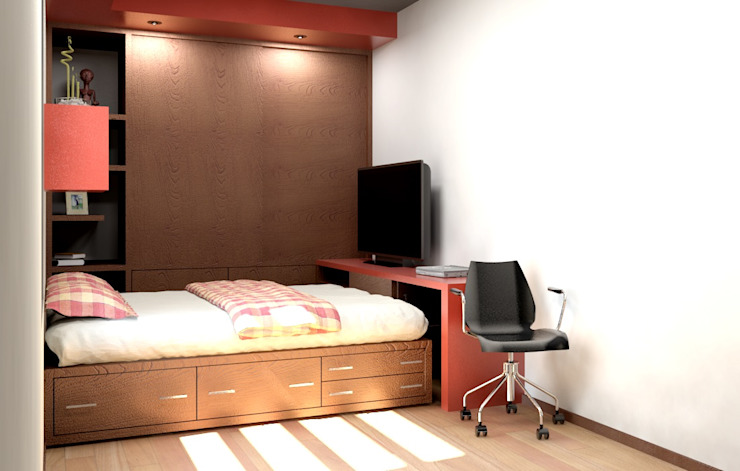 Bedroom by Arq. Rodrigo Culebro Sánchez, Modern