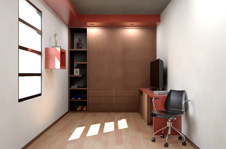 Oficina y Mini Departamentos Dormitorios modernos de Arq. Rodrigo Culebro Sánchez Moderno