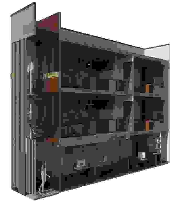 Oficina y Mini Departamentos Casas modernas de Arq. Rodrigo Culebro Sánchez Moderno