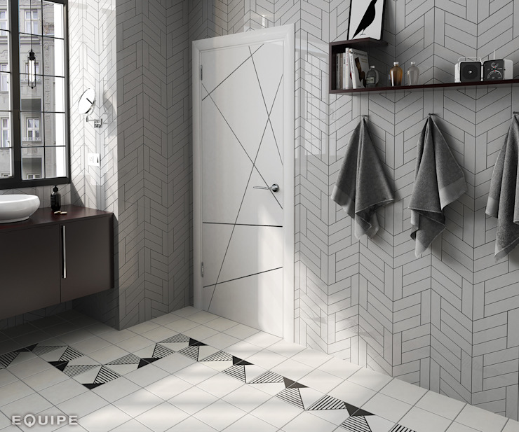 Equipe Ceramicas Modern dressing room Ceramic Grey