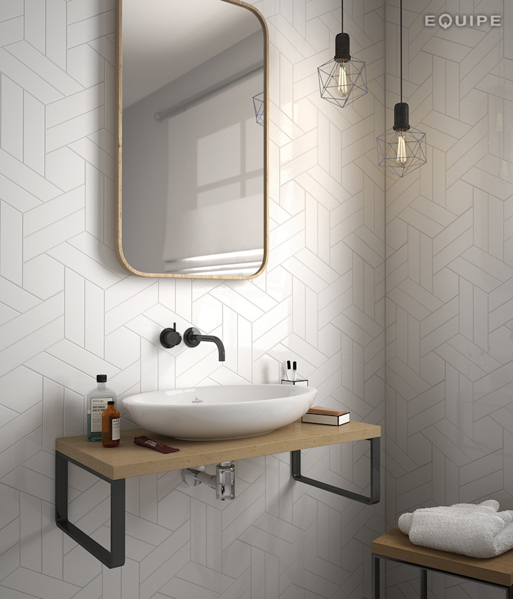 Equipe Ceramicas Scandinavian style bathroom Ceramic