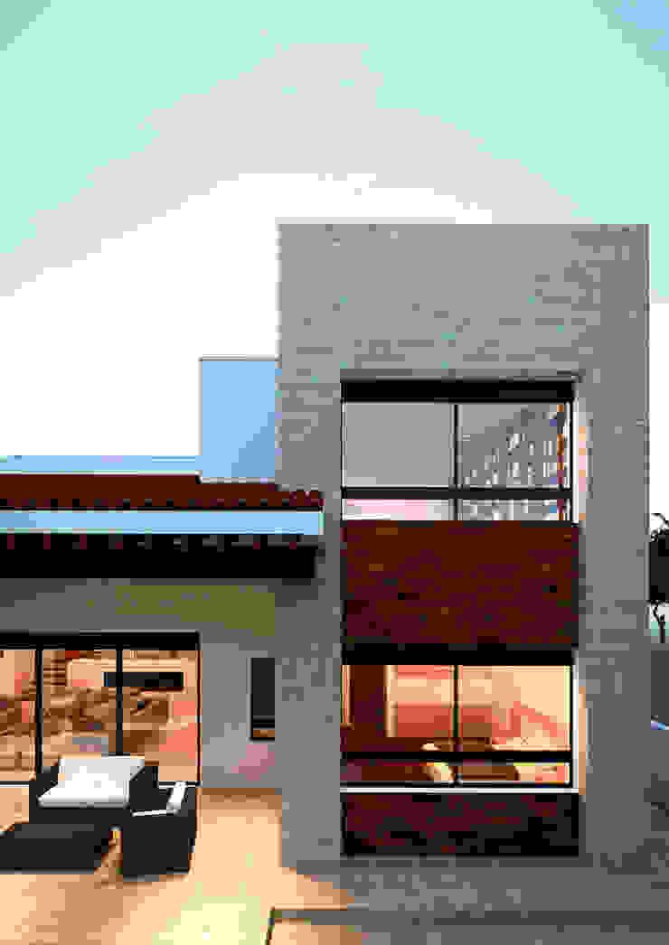 Fachada Casas mediterráneas de Laboratorio Mexicano de Arquitectura Mediterráneo