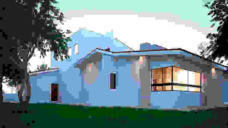 Fachada posterior Casas mediterráneas de Laboratorio Mexicano de Arquitectura Mediterráneo