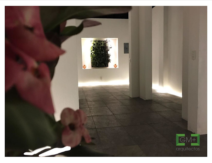 """Vestíbulo """"CK-09"""" Pasillos, vestíbulos y escaleras modernos de [GM+] Arquitectos Moderno"""