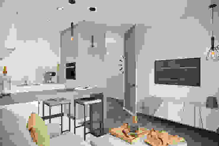 СВЕТЛАНА АГАПОВА ДИЗАЙН ИНТЕРЬЕРА Cocinas de estilo minimalista Gris