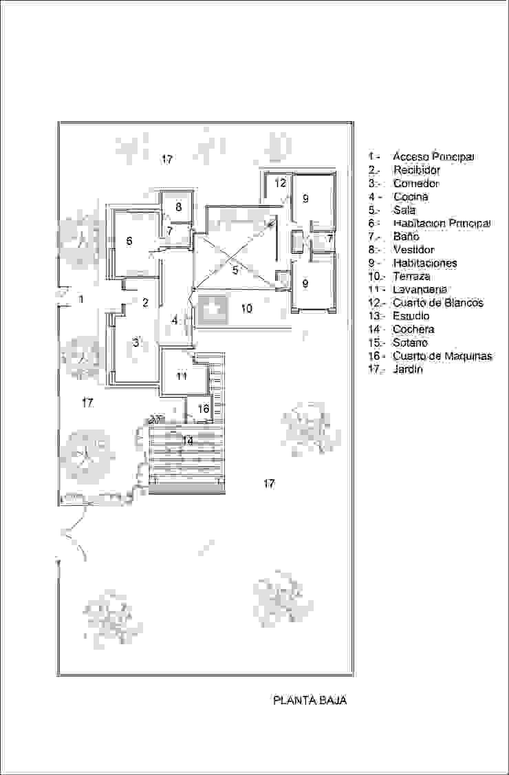 Planta Baja de Laboratorio Mexicano de Arquitectura Mediterráneo