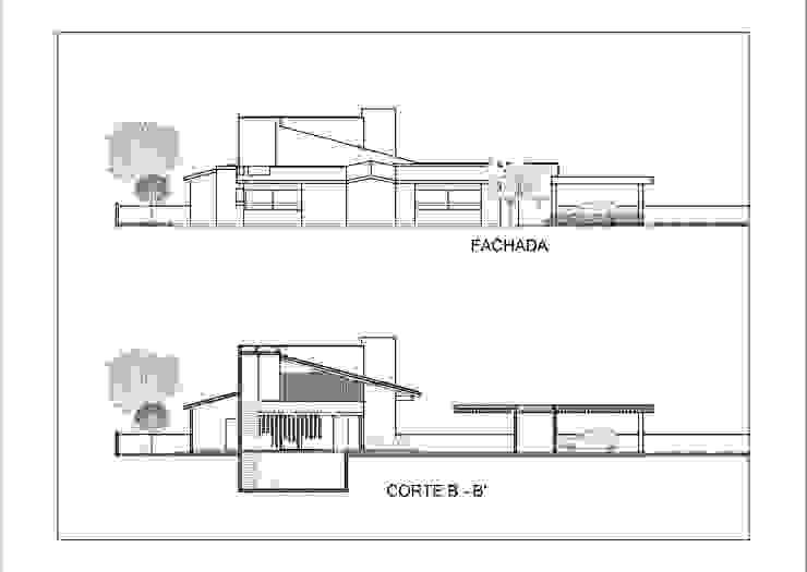 Cortes y Fachadas de Laboratorio Mexicano de Arquitectura Mediterráneo
