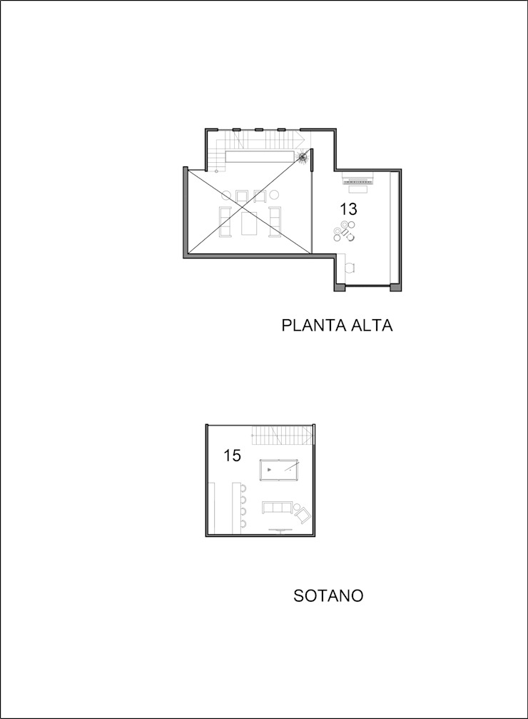 Planta Alta y Subterraneo de Laboratorio Mexicano de Arquitectura Mediterráneo