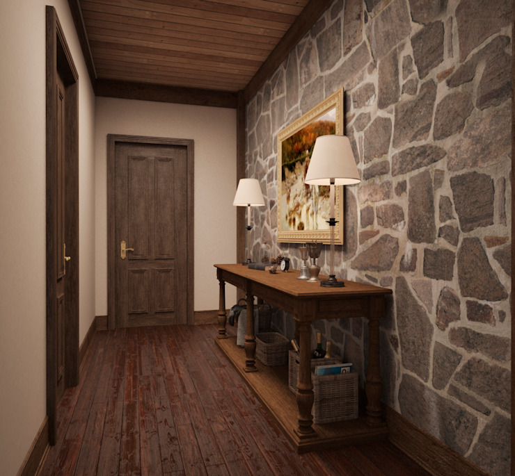 Архитектура Интерьера Country style corridor, hallway& stairs