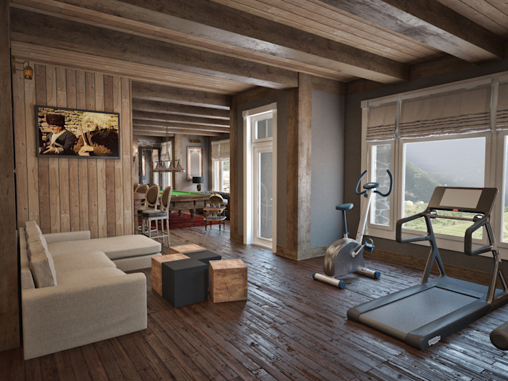 Country style gym by Архитектура Интерьера Country