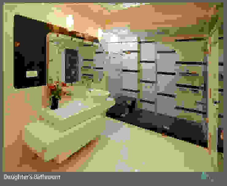 Three Storey Grand Residence @Paota,Jodhpur Modern bathroom by RAVI - NUPUR ARCHITECTS Modern