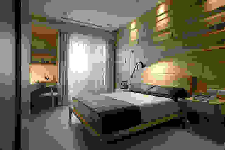 大言室內裝修有限公司 Minimalistyczna sypialnia