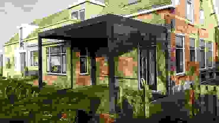 Brustor B-150 terrasoverkapping: modern  door Paul & Paul Kozijnen, Zonwering & Serres, Modern